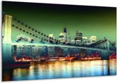 Canvas schilderij Steden | Geel, Blauw, Rood | 120x70cm 1Luik