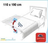 Homéé - Waterdicht Steeklaken | 110x190cm | halftwijn 280g. p/m2 100% katoenen