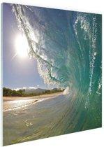 Golven Oceanie  Glas 40x60 cm - Foto print op Glas (Plexiglas wanddecoratie)