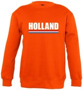 Oranje Holland supporter sweater kinderen 7-8 jaar (122/128)