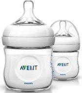Philips Avent Natural SCF690/27 - Babyfles (125 ml) met speen voor pasgeborenen 0m+ - 2 stuks