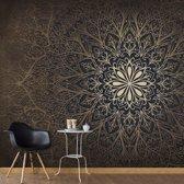 Fotobehang - Mandala , beige zwart