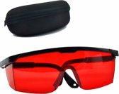 Beschermbril tegen laser stralen 190nm tot 540nm bescherming bril + Brillendoos / HaverCo