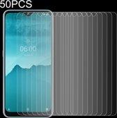 Let op type!! 50 stuks voor Nokia 6 2 2.5 D niet-volledig scherm gehard glas film