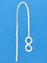 The Jewelry Collection Doortrekoorbellen Infinity - Zilver