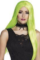 Pruik Witch neon groen