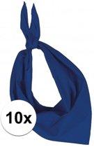 10x Zakdoek bandana kobalt blauw - hoofddoekjes