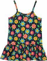 Losan Meisjes Jurk Blauw met  bloemen - Maat 92