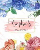 Sophie's Planner: Monthly Planner 3 Years January - December 2020-2022 - Monthly View - Calendar Views Floral Cover - Sunday start