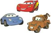 Disney Cars - 3 Muurstickers Foam - Bruin/rood/blauw - 30x50 cm