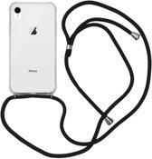 iMoshion Backcover met koord iPhone Xr hoesje - Zwart