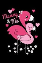 Mummy & me: A Pink Flamingo mummy & daughter blank lined journal notebook for mother.
