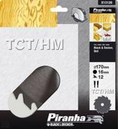 Piranha Cirkelzaagblad TCT/HM, 170x16mm 12 tanden X13120