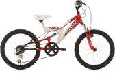 Ks Cycling Mountainbike 20'' kinderfiets Zodiac van KS Cycling, wit-rood, FH 31 cm - 31 cm
