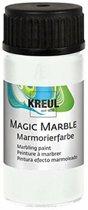 KREUL Witte Magic Marble Marmer effect verf - 20ml marble effect verf voor eindeloze toepassingen zoals toepassingen, van achtergronden van schilderijen tot gitaren