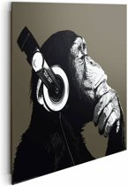 Reinders Schilderij The Chimp - stereo - Deco Panel - 50 x 40 cm - no. 22213