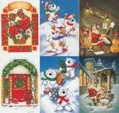 60 Stuks - Luxe Kerst en Nieuwjaarskaarten met enveloppen - 15 x 10,5cm