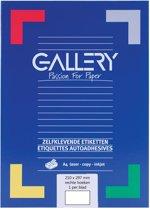 6x Gallery witte etiketten 210x297mm (bxh), rechte hoeken, doos a 100 etiketten