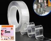 Nano Tape - Hoge kwaliteit herbruikbare en Wasbare Tape – Dubbelzijdige 5 meter Tape