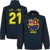 Barcelona F. De Jong 21 Gaudi Logo Hoodie - Navy - S