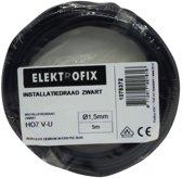 Elektrofix installatiedraad zwart 5 m x 1,5 mm