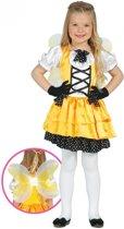 Geel vlinder kostuum voor meisjes 128-134 (7-9 jaar)