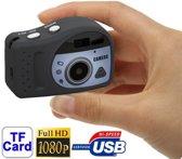 T7000 1080P Mini Digitale Camera / Mini DV  3.0 megapixel Support TF Card(Black)
