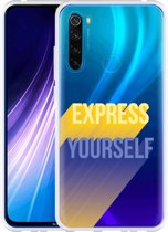 Xiaomi Redmi Note 8 Hoesje Express Yourself