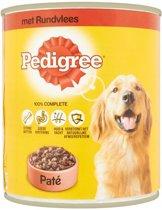 Pedigree Blik Hondenvoer Adult Pate - Rundvlees - 12x 800 gr