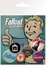 Fallout buttons 6-Pack Mix 2