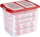 Sunware Nesta Kerst Opbergbox 45L - met deksel met vakverdeling - trays voor 76 kerstballen