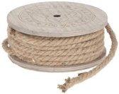 Decoratie/hobby touw jute bruin lengte 7 meter dikte 8 mm -  Hobbytouw