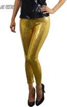 Legging goud met pailletten-Maat:L-XL