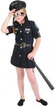 Meisjes politie jurk kostuum 140 (10 jaar)