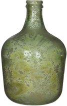 Mica Decorations diego glazen fles groen maat in cm: 42 x 27