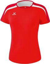 Erima Liga 2.0 Trainingsshirt Dames - Rood/Donkerrood/Wit