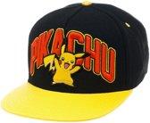Pokémon - Zwarte Pikachu snapback met gele flap