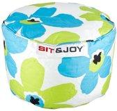 Sit & Joy Zitzak/Poef  Small Dot 55cm aqua / lime
