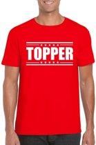 Topper t-shirt rood heren 2XL