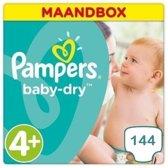 Pampers Baby Dry Luiers - Maat 4+ - 144 Luiers