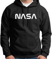 Hoodie sweater | Official NASA logo white | Maat Medium