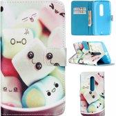 Candy print wallet hoesje Motorola Moto X Play