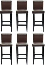 Barkruk Bruin 6 STUKS / Bar kruk / Hoge Stoel / Bar stoeltje / Bar Krukje / Fauteuil / Lounge Stoel