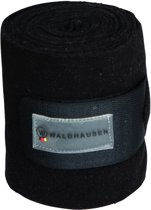 Waldhausen Bandages Fleece Full Zwart&Grijs