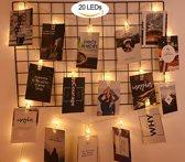 20 Foto Clips LED Slinger - Warm White