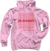 OK Boomer | Hoodie | Generation Z | Light Pink | Large