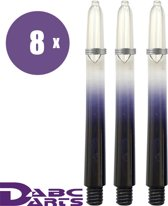 ABC Darts Shafts - Kunststof Vision Zwart - Medium - 8 sets