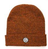 Fox Chunk Beanie | Orange Black Marl