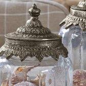 LOBERON Glazen potten set van 2 Laféline helder/zilverkleurig