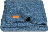 Jollein Stonewashed Knit - Wiegdeken 75x100 cm - Navy